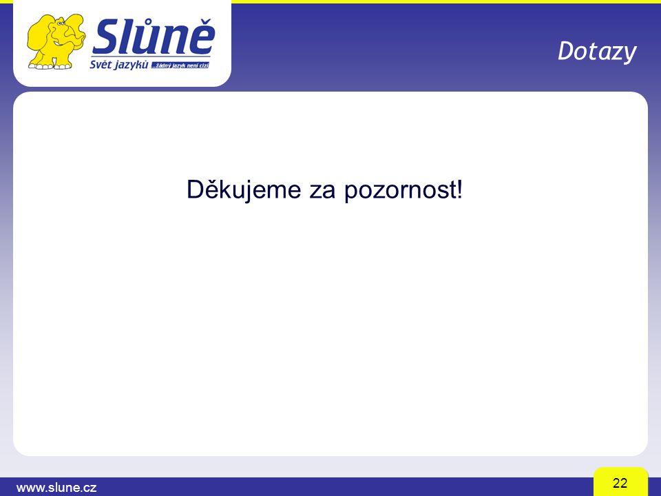 www.slune.cz 22 Dotazy Děkujeme za pozornost!