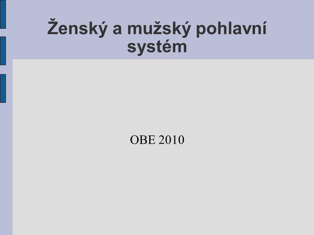 Ženský a mužský pohlavní systém OBE 2010