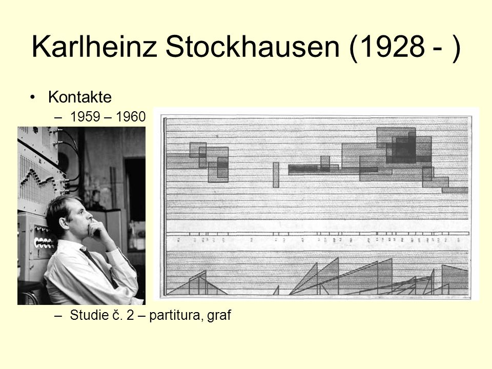 Gottfried Michael Koenig (1926 - ) Klangfiguren II (1955/56) –Digitální rekonstrukce původní verze