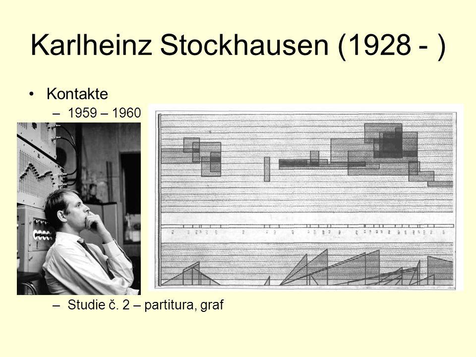 Karlheinz Stockhausen (1928 - ) Kontakte –1959 – 1960 –Studie č. 2 – partitura, graf
