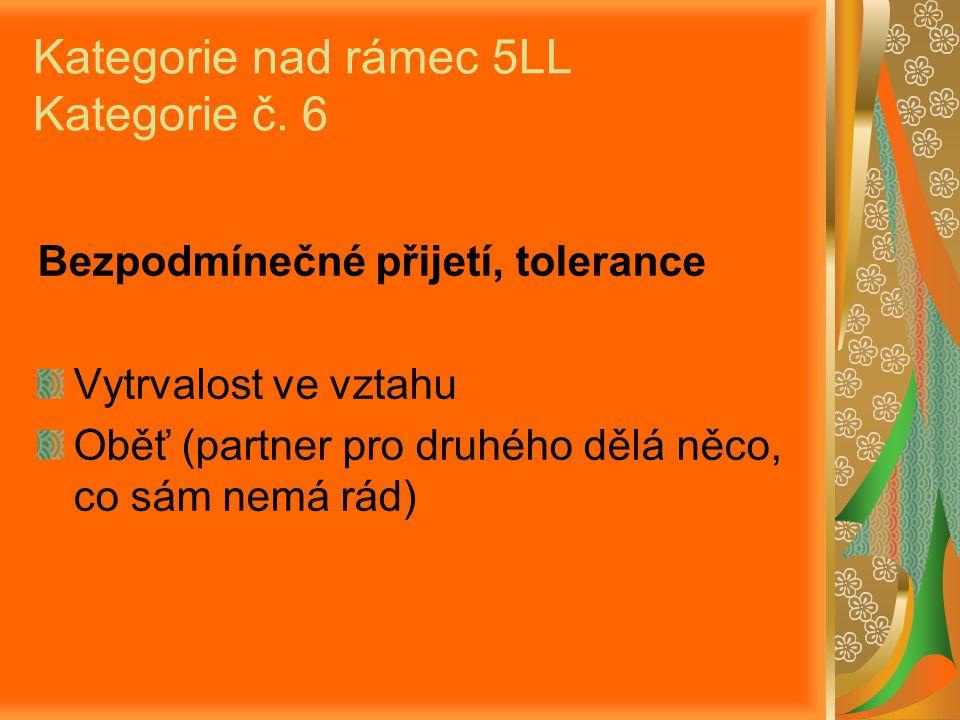 Kategorie nad rámec 5LL Kategorie č.