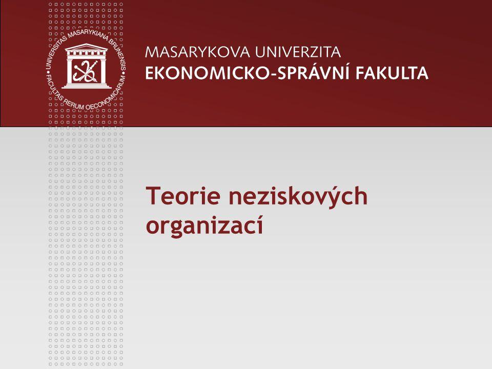 Teorie neziskových organizací