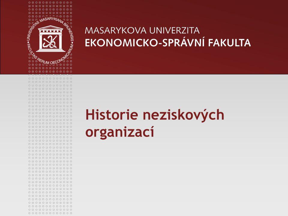 Historie neziskových organizací