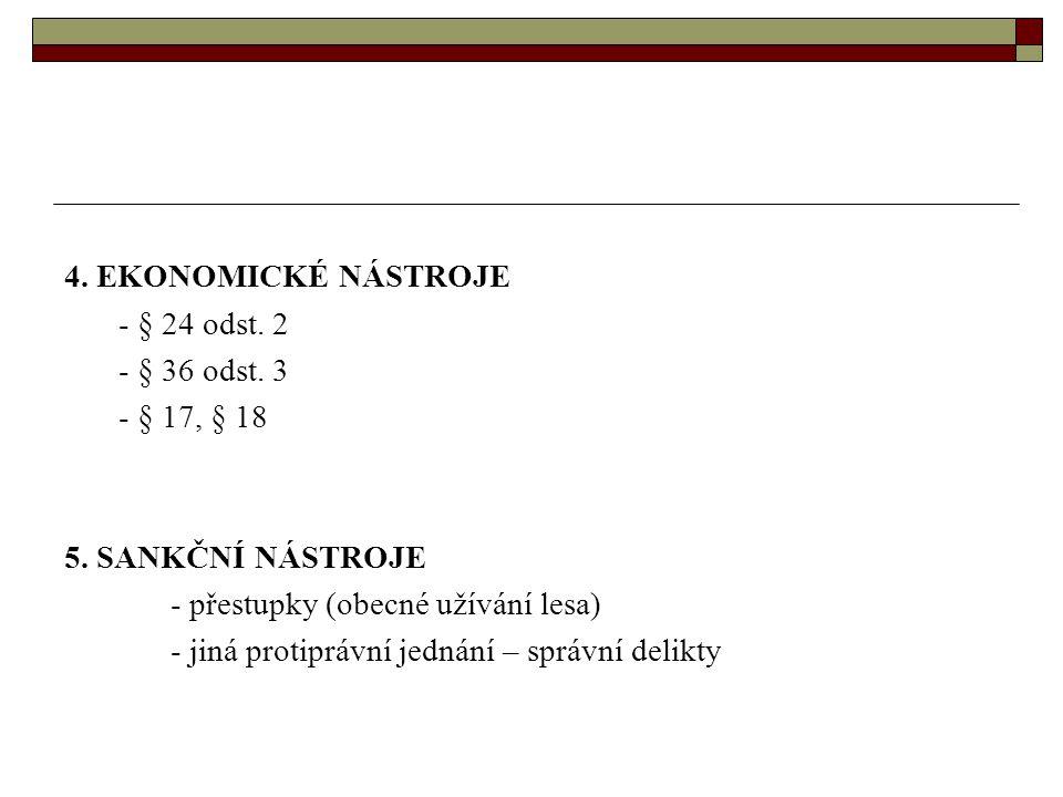4. EKONOMICKÉ NÁSTROJE - § 24 odst. 2 - § 36 odst.