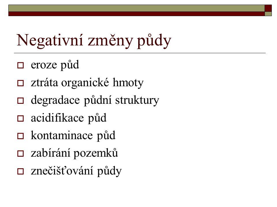 E ) Opatření k předcházení ztrát na rozloze ZPF při některých činnostech I.