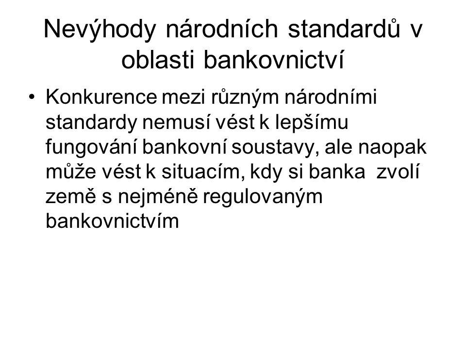 (pokrač.) 13 - požadavek, aby banky měly systém pro měření, monitorování a kontrolu všech ostatních věcných rizik 14 – banky mají mít adekvátní systémy vnitřní kontroly 15 – pravidla pro prevenci proti podvodům a proti praní peněz