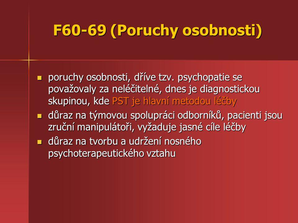 F60-69 (Poruchy osobnosti) poruchy osobnosti, dříve tzv.