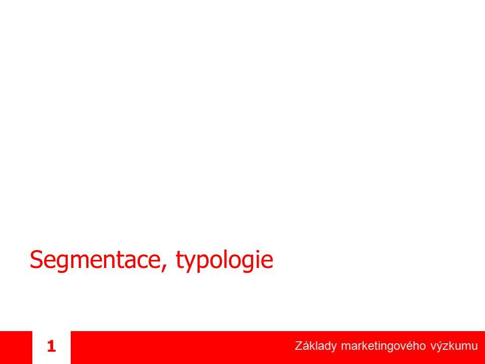 Základy marketingového výzkumu 1 Segmentace, typologie