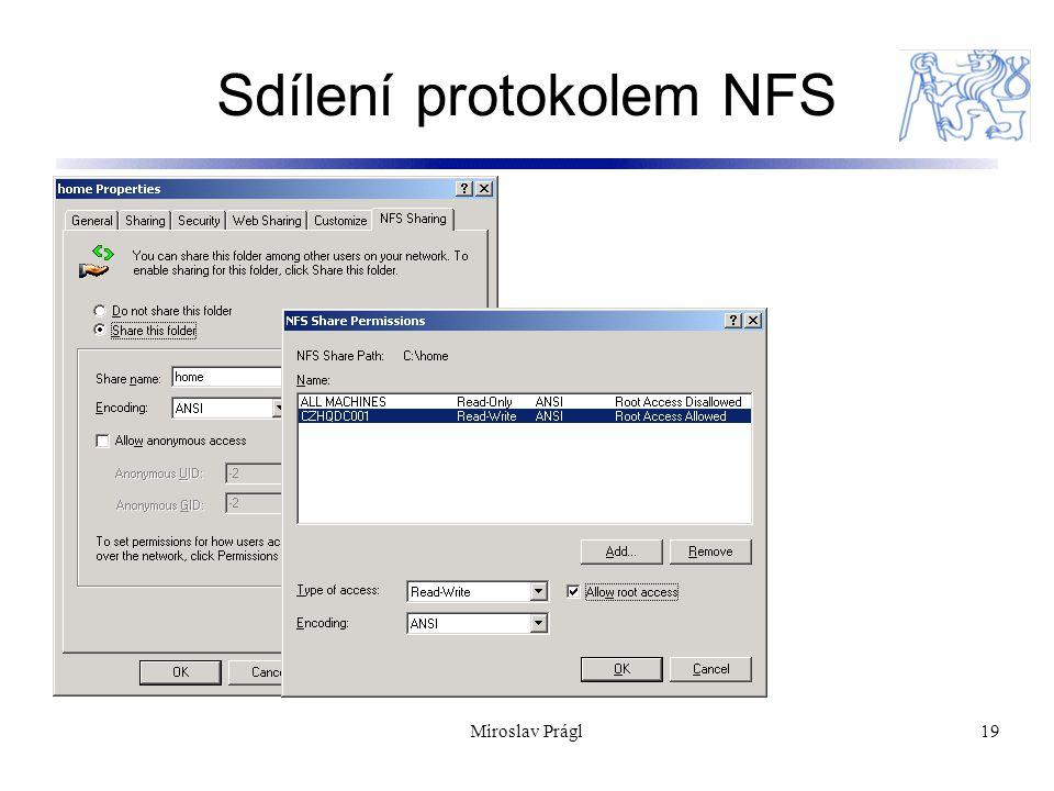 Sdílení protokolem NFS 19Miroslav Prágl