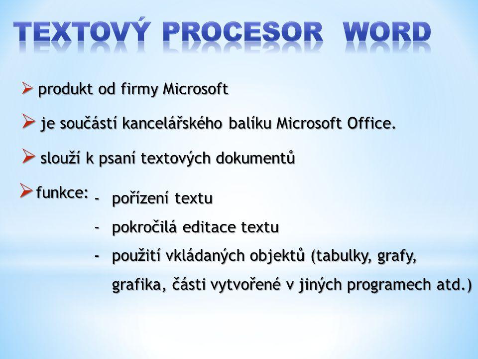  produkt od firmy Microsoft  je součástí kancelářského balíku Microsoft Office.