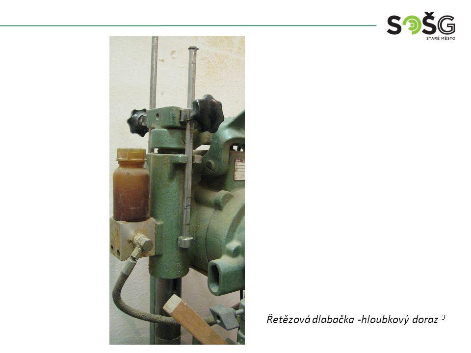 Vícekotoučová rozřezávací pila PWR 201 TOS Svitavy - detailŘetězová dlabačka -hloubkový doraz 3