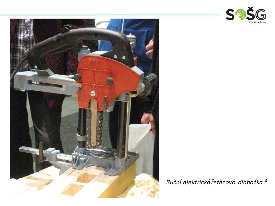 Vícekotoučová rozřezávací pila PWR 201 TOS Svitavy - detail Ruční elektrická řetězová dlabačka 4