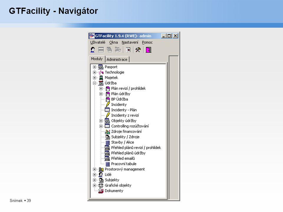 Snímek  39 GTFacility - Navigátor