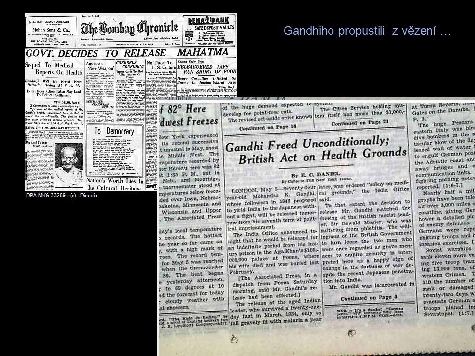 Gandhiho propustili z vězení …
