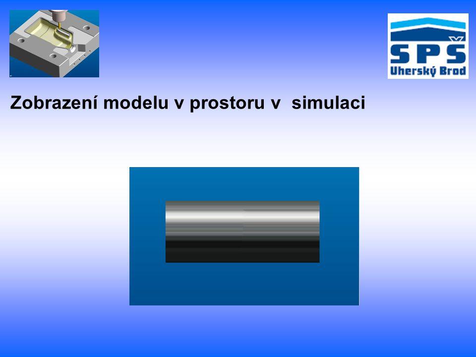 Zobrazení modelu v prostoru v simulaci