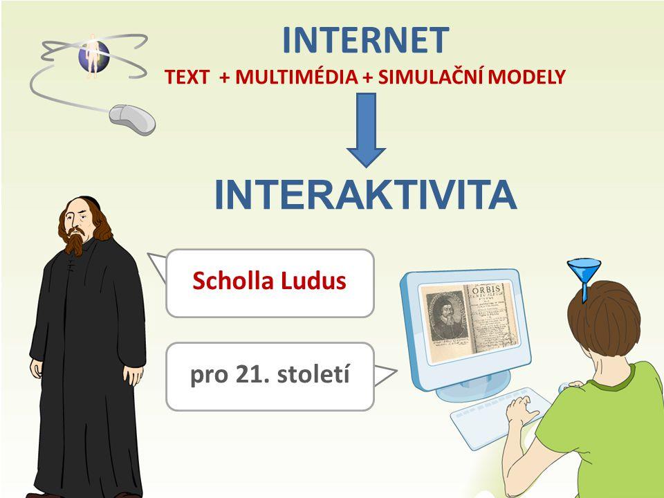 INTERNET TEXT + MULTIMÉDIA + SIMULAČNÍ MODELY INTERAKTIVITA Scholla Ludus pro 21. století