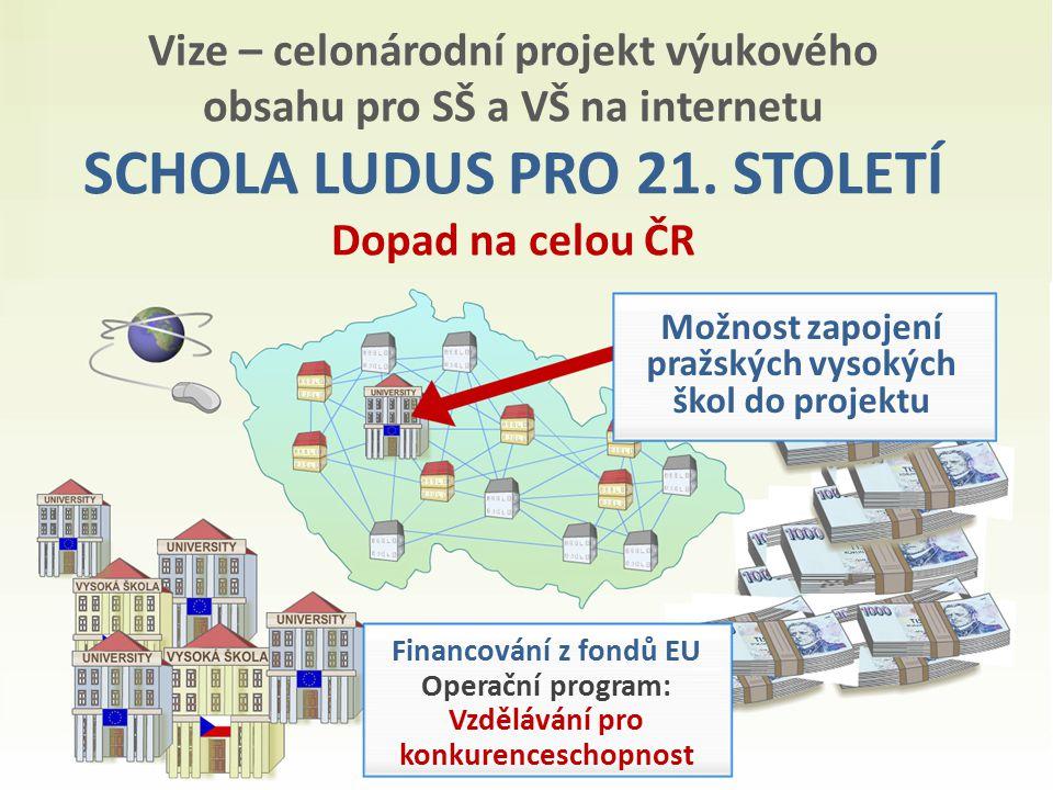 Vize – celonárodní projekt výukového obsahu pro SŠ a VŠ na internetu SCHOLA LUDUS PRO 21.
