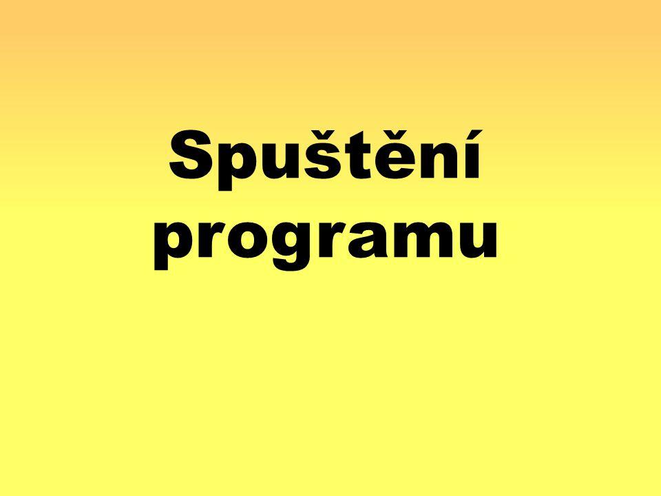 Spuštění programu