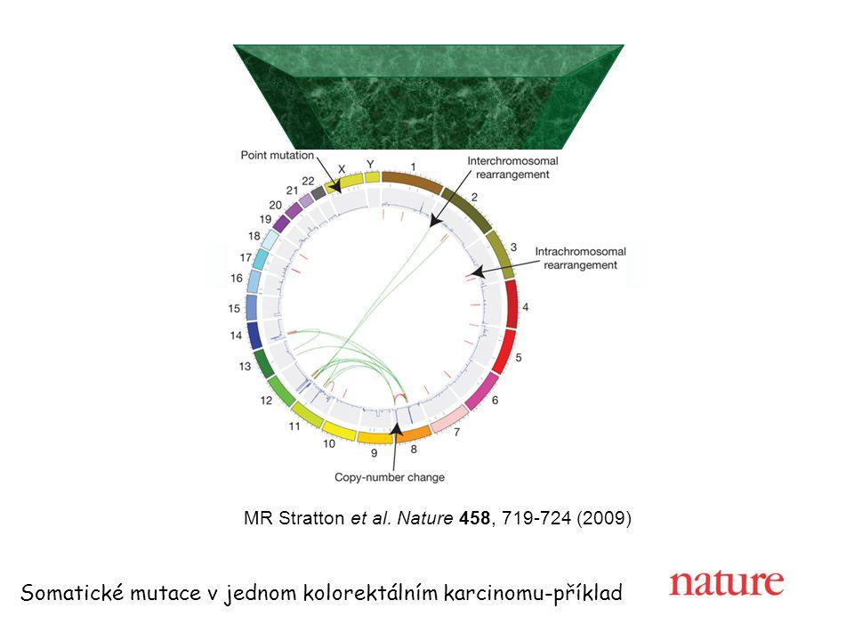 MR Stratton et al. Nature 458, 719-724 (2009) Somatické mutace v jednom kolorektálním karcinomu-příklad
