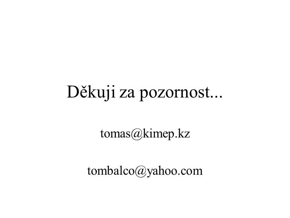 Děkuji za pozornost... tomas@kimep.kz tombalco@yahoo.com