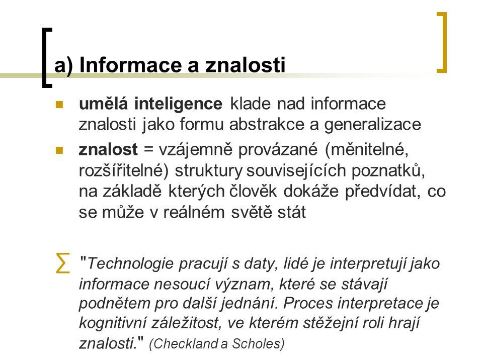 e) IS - prvky informační služby - služby, které IS poskytuje svým uživatelům lidé - kdo je uživatelem informačních služeb (vč.kvalifikačních předpokladů) organizace - k jaké podobě organizace se IS vztahuje legislativa - jaké zákony a normy se k provozování jednotlivých aplikací vztahují ekonomika - jaké náklady a jaké přínosy jsou s provozem IS spojeny