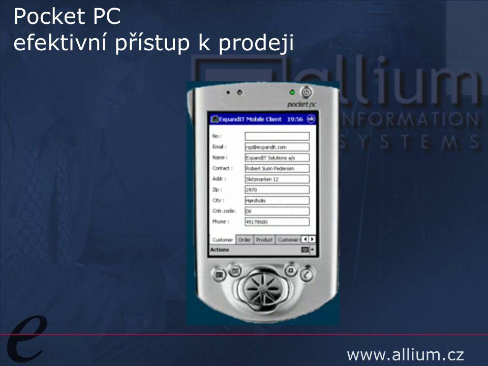 www.allium.cz Pocket PC efektivní přístup k prodeji