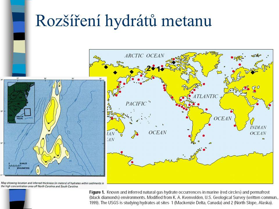 Rozšíření hydrátů metanu