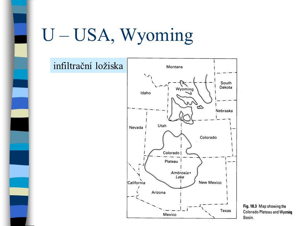 U – USA, Wyoming infiltrační ložiska
