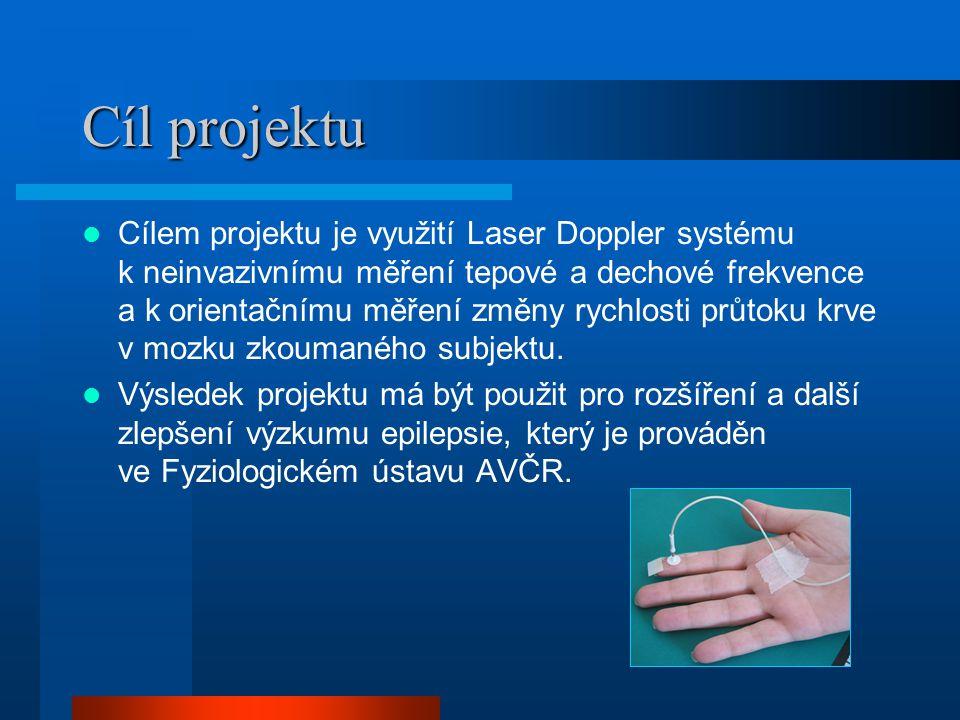 Popis Laser Doppler systém snímá okamžitou rychlost průtoku krve cévami, což teoreticky umožňuje získání tepové frekvence analýzou výsledného signálu.