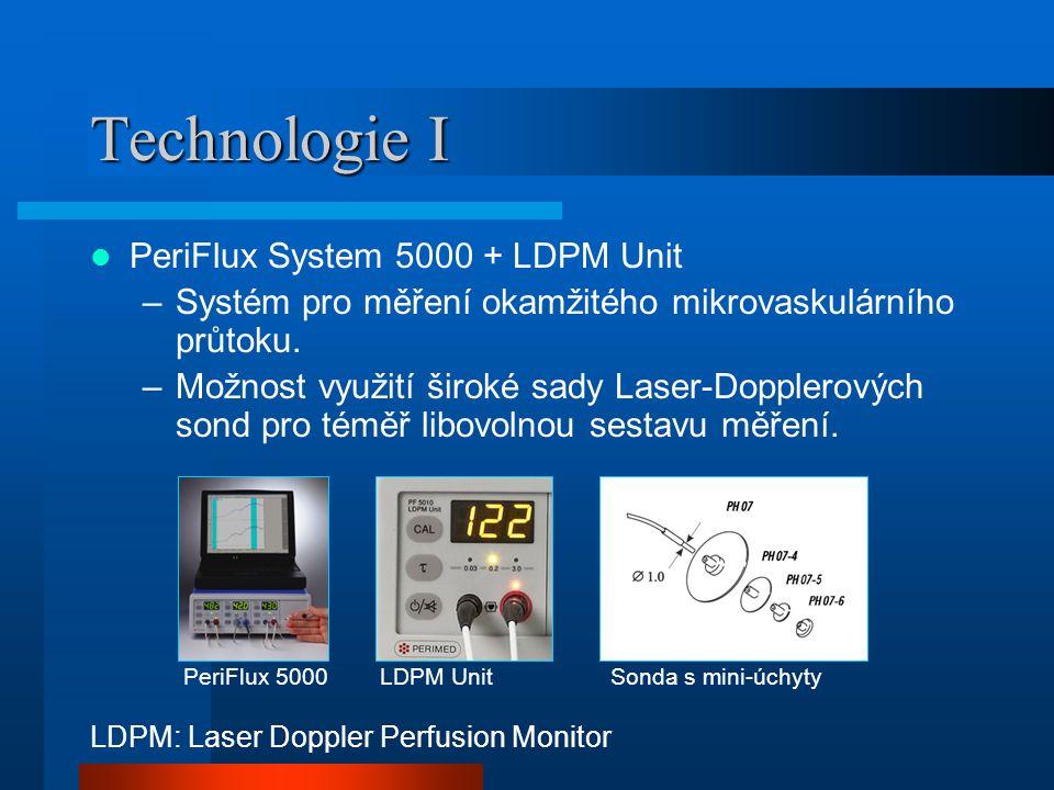 Technologie I PeriFlux System 5000 + LDPM Unit –Systém pro měření okamžitého mikrovaskulárního průtoku.