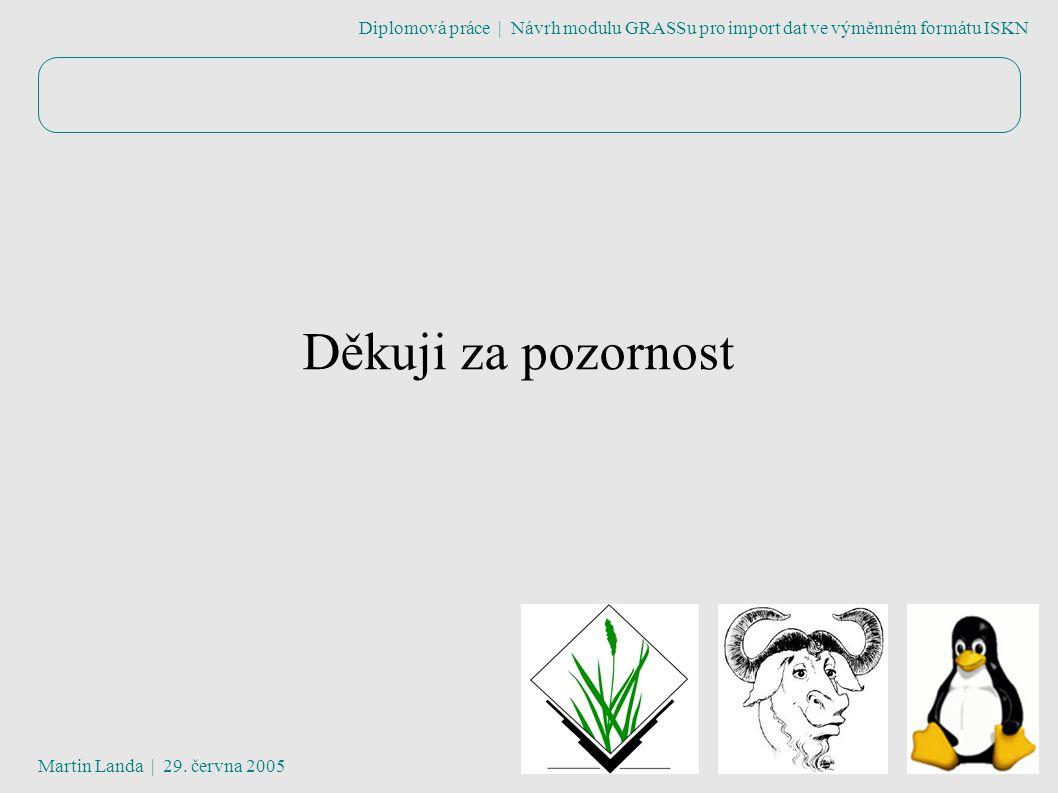 Diplomová práce | Návrh modulu GRASSu pro import dat ve výměnném formátu ISKN Martin Landa | 29.
