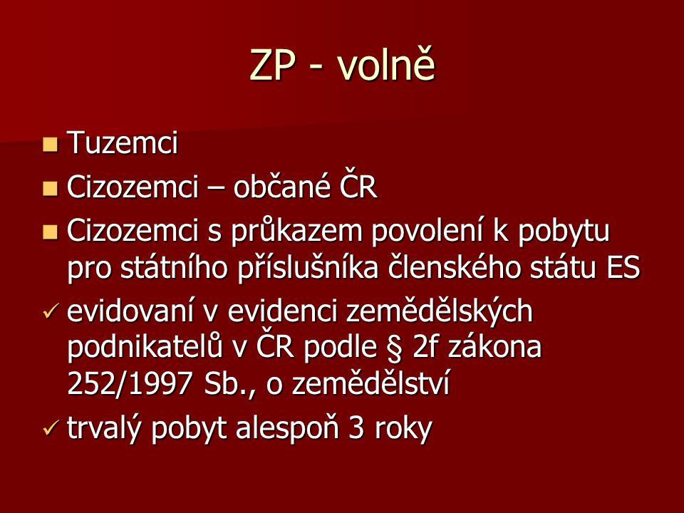 Zemědělský pozemek Legislativní zkratka (§ 17 odst. 1): Legislativní zkratka (§ 17 odst. 1): ZPF (334/1992 Sb., ZOZPF) ZPF (334/1992 Sb., ZOZPF) Pozem