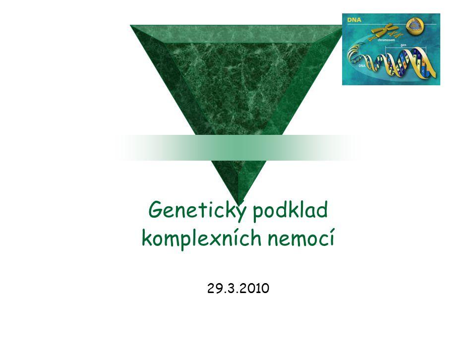 Genetický podklad komplexních nemocí 29.3.2010