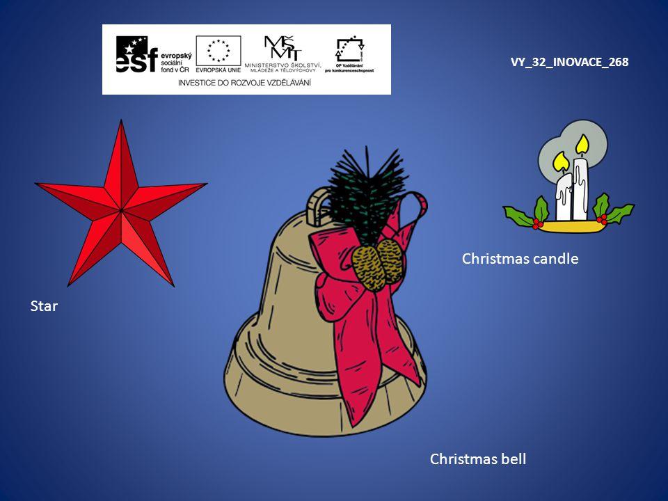 VY_32_INOVACE_268 Star Christmas candle Christmas bell