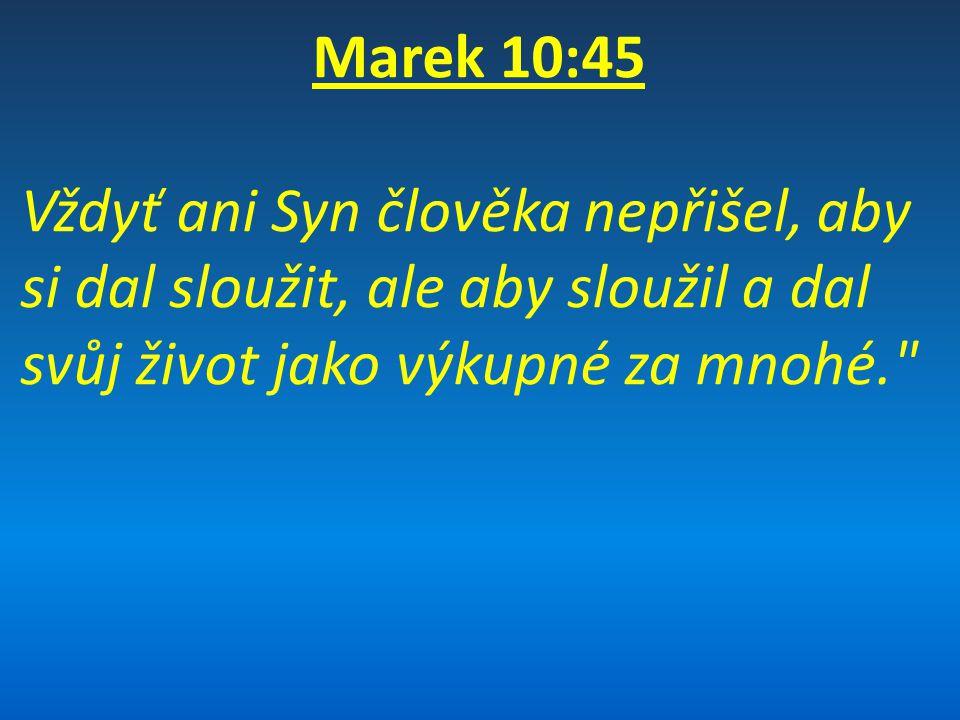 Definice tématu a cíle knihy Marek zaznamenává službu Ježíše Krista během Jeho života a v Jeho smrti, aby ukázal, že Kristus přišel jako služebník Páně.