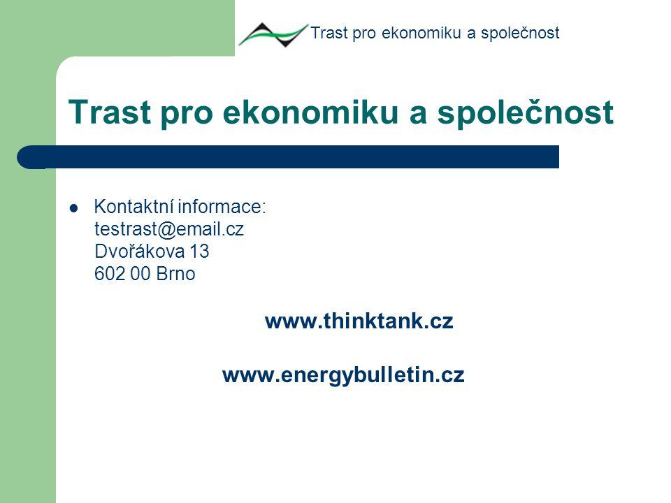 Kontaktní informace: testrast@email.cz Dvořákova 13 602 00 Brno www.thinktank.cz www.energybulletin.cz Trast pro ekonomiku a společnost