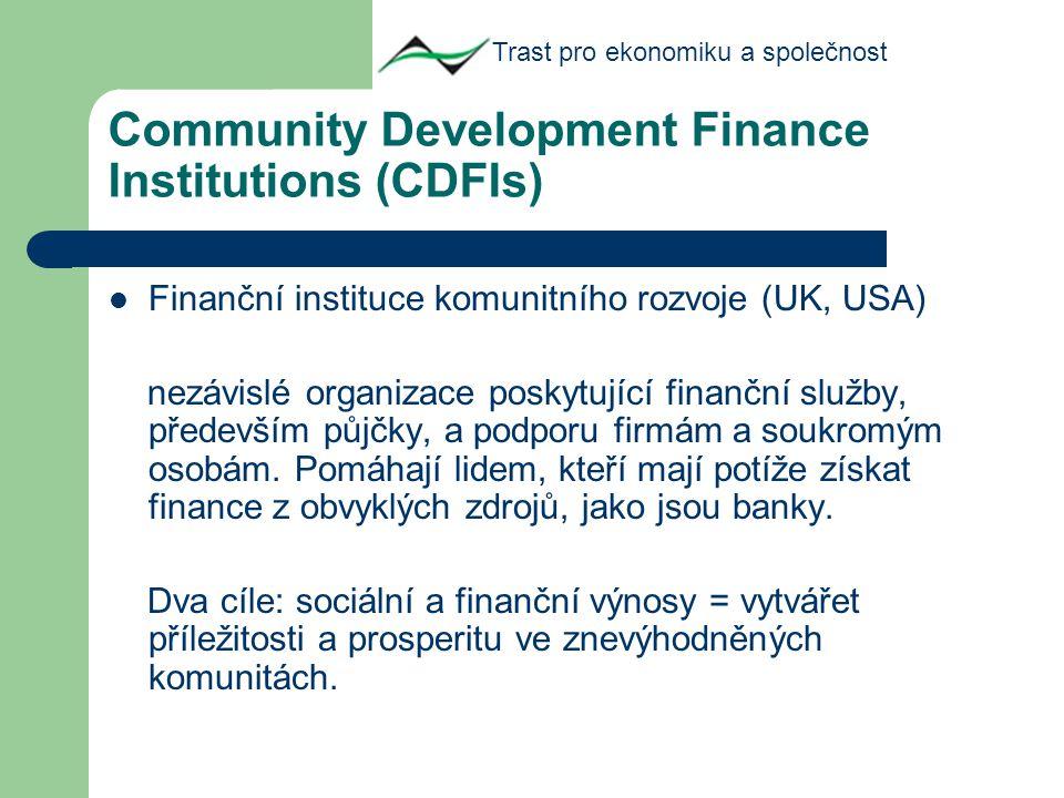 Na co poskytují CDFIs kapitál.
