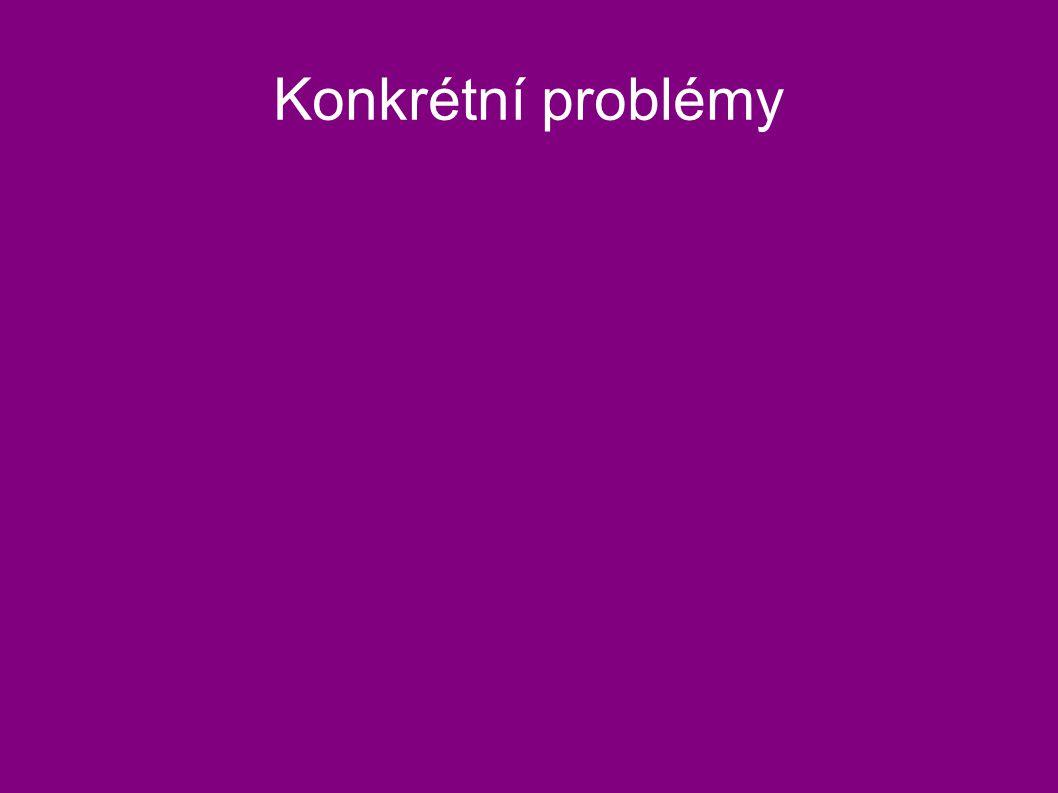 Konkrétní problémy
