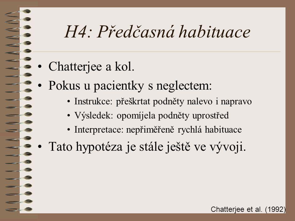 H4: Předčasná habituace Chatterjee a kol.