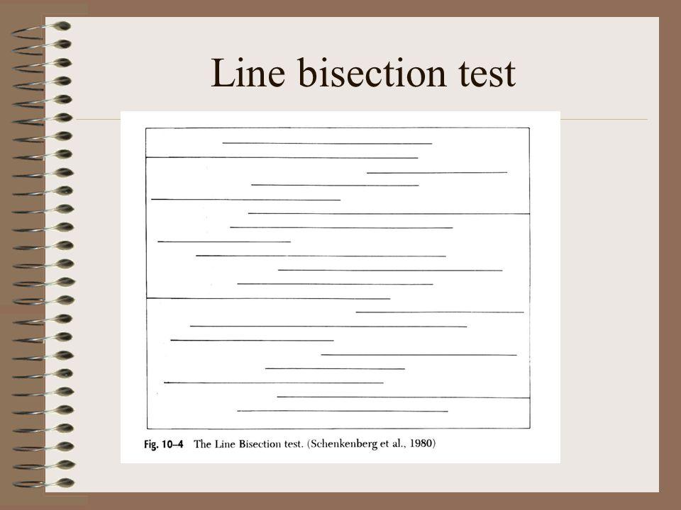 Line bisection test