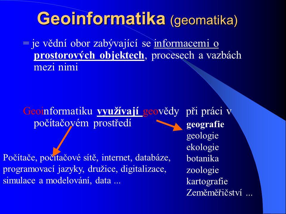 Geografické informace Geografické informace mohou být: analogové 1.grafické - mapy, ….. 2.textové - knihy, ročenky, zprávy, …. digitální