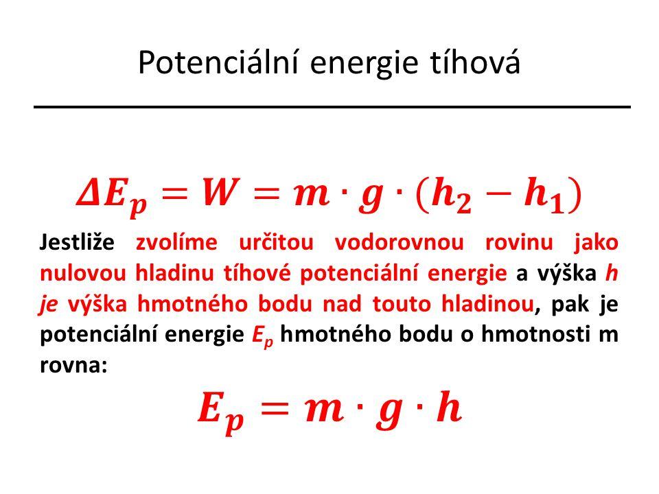 Potenciální energie tíhová