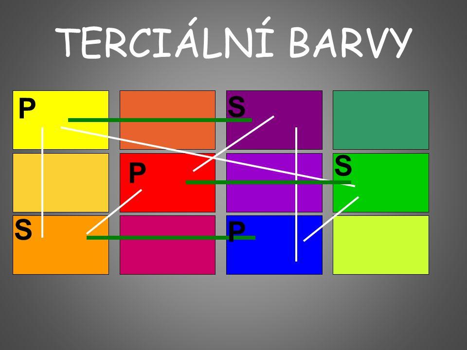 TERCIÁLNÍ BARVY P P P S S S