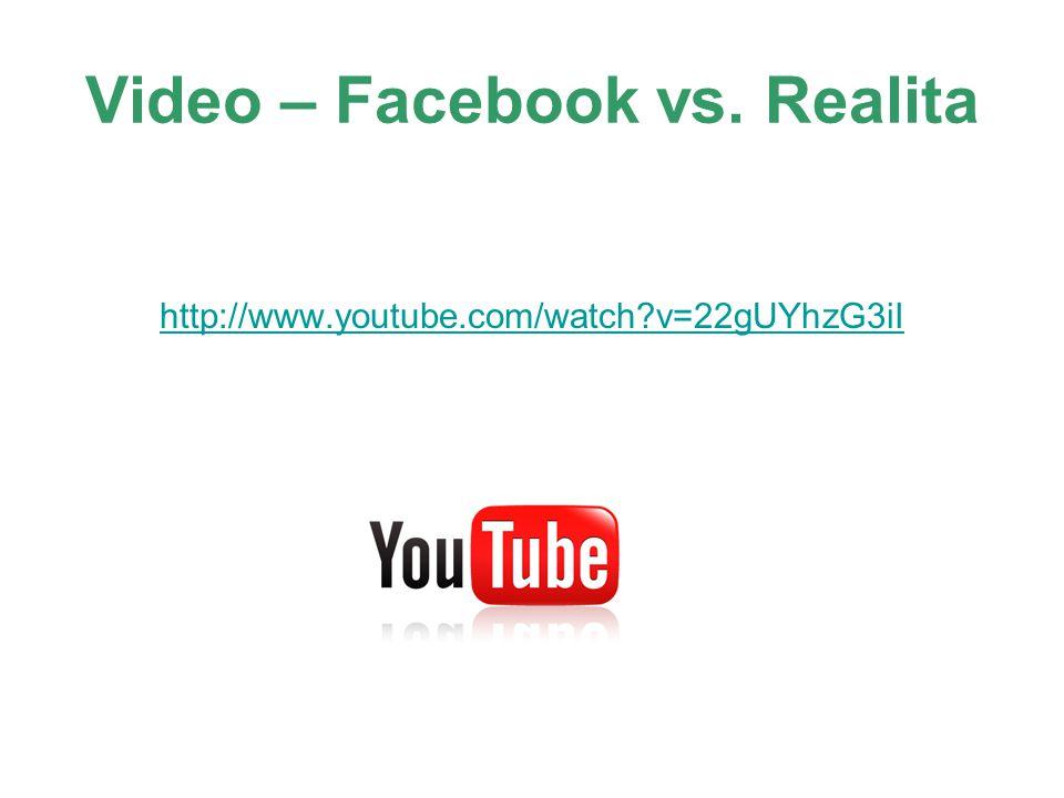 Video – Facebook vs. Realita http://www.youtube.com/watch?v=22gUYhzG3iI