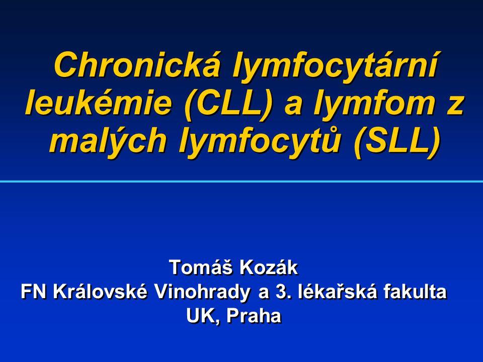 Chronická lymfocytární leukémie (CLL) a lymfom z malých lymfocytů (SLL) Tomáš Kozák FN Královské Vinohrady a 3. lékařská fakulta UK, Praha Tomáš Kozák