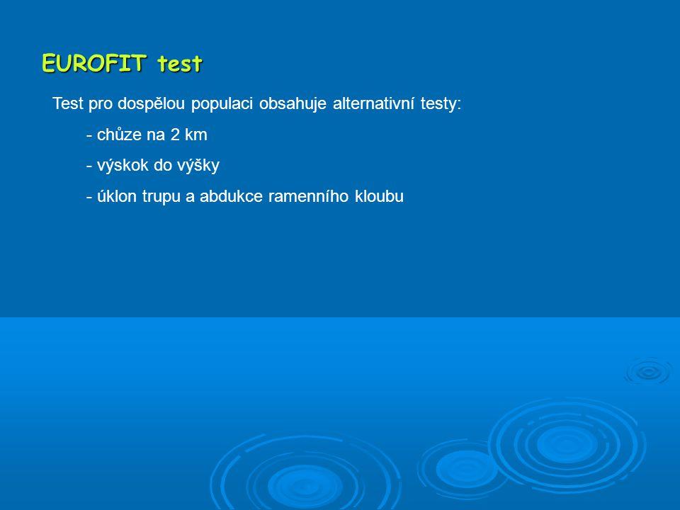 """UNIFIT test (6 – 60) Hodnocení: Pomocí """"stenů které jsou testovaným přidělovány dle jednotlivých výsledků podle normových tabulek."""