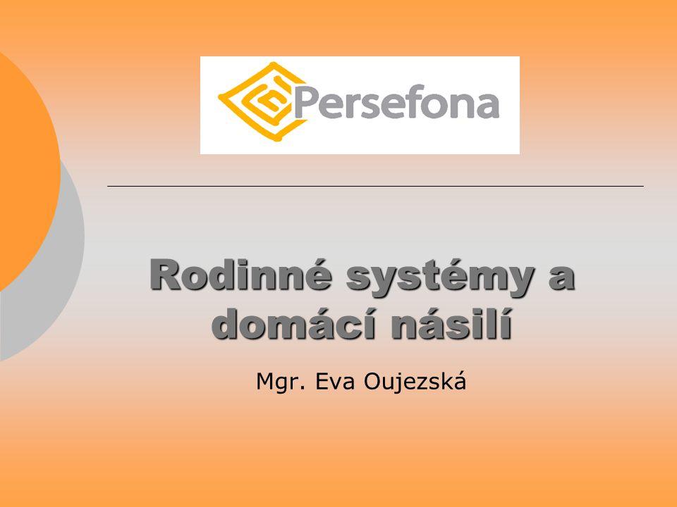 Rodinné systémy a domácí násilí Rodinné systémy a domácí násilí Mgr. Eva Oujezská