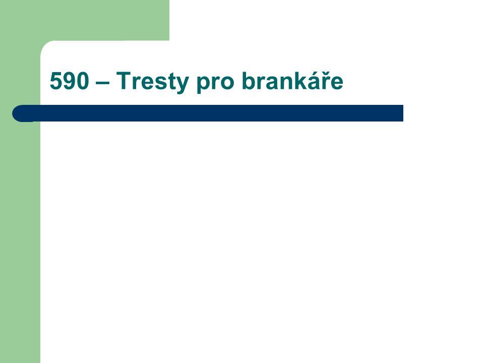 590 – Tresty pro brankáře
