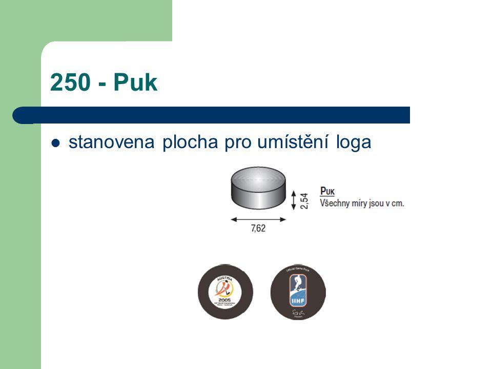 250 - Puk stanovena plocha pro umístění loga