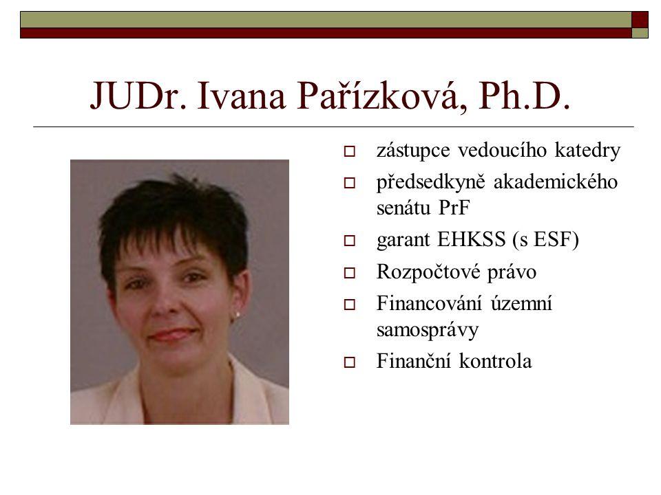 JUDr.Ivana Pařízková, Ph.D.